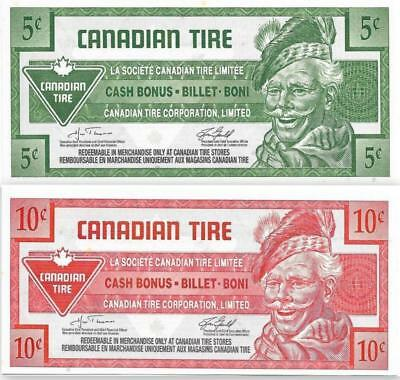 SET ~ 2007 CANADIAN TIRE ~ 5 + 10 Cent Coupons; Mint - FREE SHIPPING Canada & US