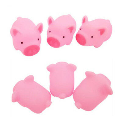 2Pcs Rubber Pig Baby Kids Children Water Bathing Fun Toys Squeaky Glitzy Gift