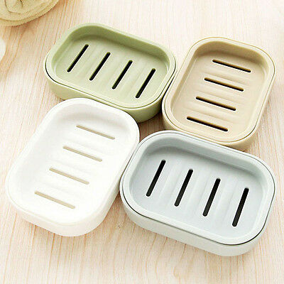 US Soap Dispenser Dish Case Holder Container Box for Bathroom Travel Carry BBU
