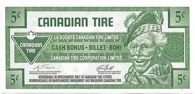 CANADIAN TIRE 2007 - 5 Cent Coupon (S29-B07); Mint - FREE SHIPPING Canada & USA