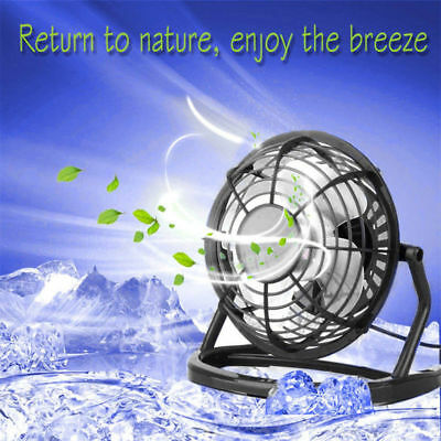 Mini Desktop Plastic USB Plug Cooler Cooling Summer Electric Fan With Key Switch