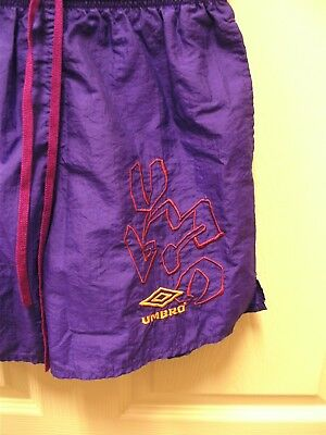 Umbro Purple Embroidered Logo Athletic Shorts Excellent Size- M