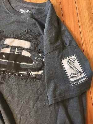 two sided FORD MUSTANG GT 350 SHELBY COBRA t shirt Sz Lg/J1