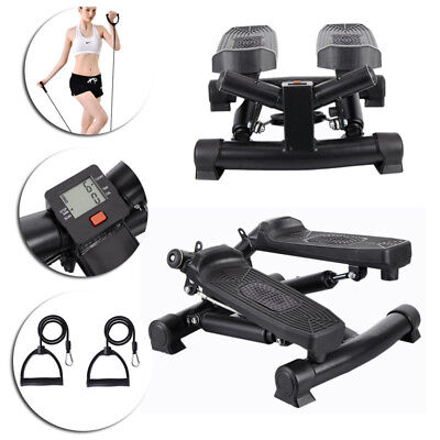 Mini Stepper Gym Home Exercise Leg Thigh Toning Workout Fitness Stair Arm Cords