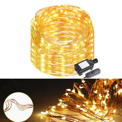 LED String Starry Light Copper Wire Fairy Lights Warm White 200 LEDs 20M Plug in