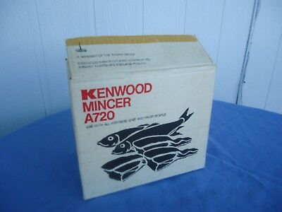 kenwood chef mixer  mincer attachment a720 box only