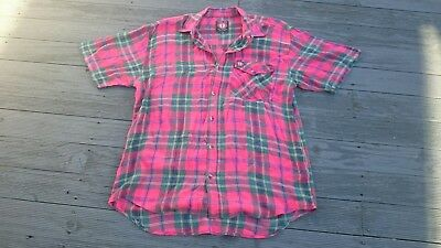 Mens vintage plaid check shirt size M hang ten
