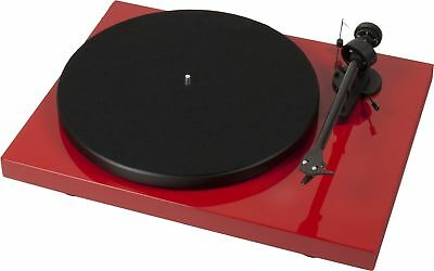 Pro-Ject Debut Carbon turntable with Ortofon cartridge. Gloss Red Record Player
