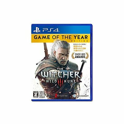 Used PS4 Witcher 3 Wild Hunt Game of the Year Edition Japan Ver.