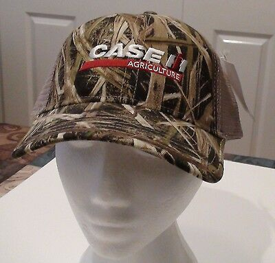 Case Ih Camouflage Logo Cap With Mesh Back New