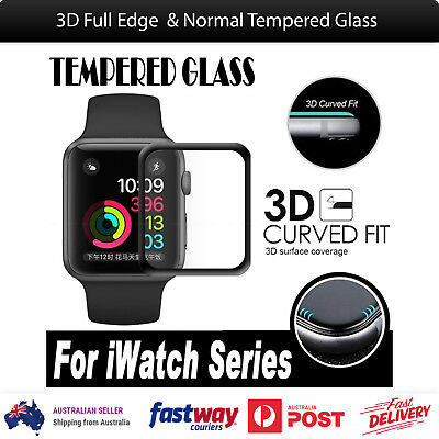 3D Full Edge Tempered Glass Screen Protector for Apple Watch 38mm 42mm iWatch