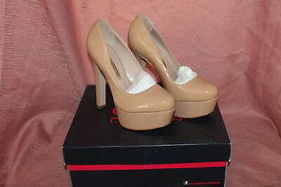 dc77cf761973b3 Buffalo London Plateau-Pumps Beige Lack 38 High Heels Neu Mit Karton Leder  Top