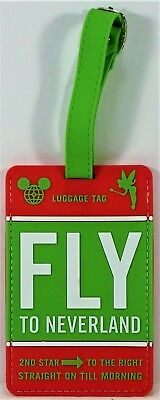 Disney Parks Exclusive Fly To Neverland 2018 Parks Luggage Tags Hangtag NEW