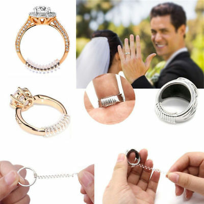 20 Pcs Ring Size Adjuster Insert Fit Finger Reducer Resizing Jewelry Tools 100mm