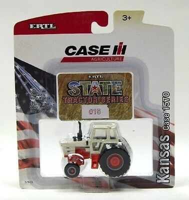 "Case 1570 Series Tractor 1976 State Tractor Series ""Kansas"" Diecast Scale 1/64"