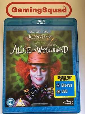 Alice in Wonderland 2 Disc Blu Ray, Supplied by Gaming Squad Ltd