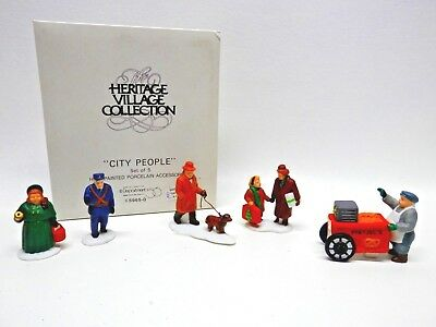 Department 56 Heritage Village Collection, CITY PEOPLE, Set of 5, 5965-0