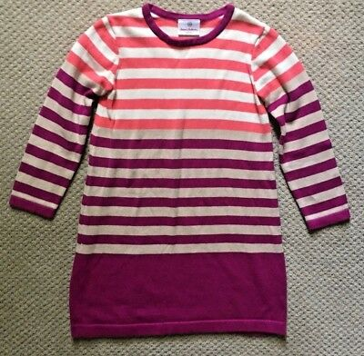 dd6c7d9f49a0a HANNA ANDERSSON PURPLE Pink Striped Play Dress Leggings Set Size 120 ...