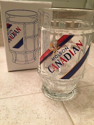 Vintage Molson Canadian beer stein with original box.   Brand new, never used.