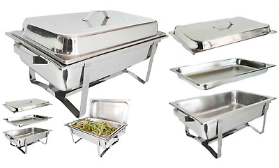 Bbq Stackable Chafing Dish Set Stainless Steel 8.5L Cookware Single Party Outdor