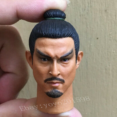 "1/6th Ancient Asian Soldiers Male Head Carving Head Sculpt For 12"" Male Action"