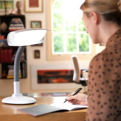 Lumie Desklamp - SAD Light Therapy and Task Lamp Flexible Neck ADJUSTABLE Head