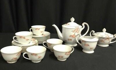 Fukagawa Arita Maple Leaf Pattern Tea Set Hand Painted Vintage 21 Piece