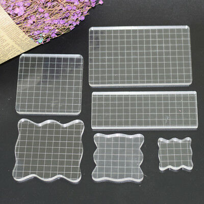 Handmade Transparent Scrapbook Clear Stamp Pad DIY Tool Acrylic Block Crafts