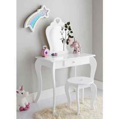 Stylish Amelia Vanity Set With Stool & Mirror perfect For Children's Room Decor