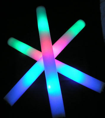 LED Foamstick, Flashing Colours, Child Friendly, Festival, Rave