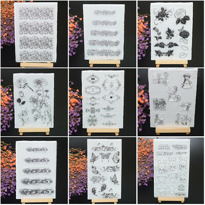 Clear Transparent Stamps Silicone Rubber Stamps Album Scrapbooking DIY Crafts