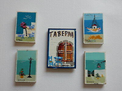 One Selected Wood / Plywood Souvenir Fridge Magnet from Greece