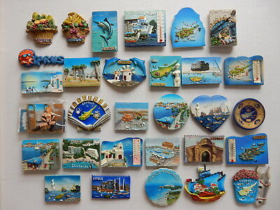 One Selected 3D Souvenir Fridge Magnet from Cyprus