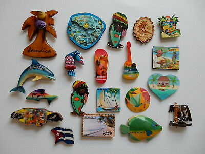 One Selected Plywood or Wooden Souvenir Fridge Magnet from the Caribbean