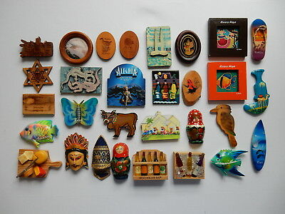 One Selected Mostly Wooden/ Plywood Souvenir Fridge Magnet from Around the World