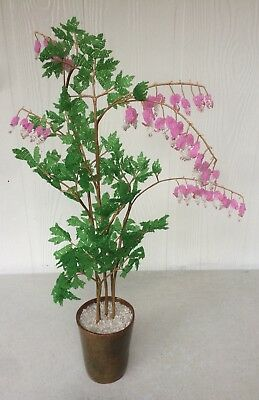 Beautiful French Seed Beaded Bell Flowers Potted Arrangement 23""