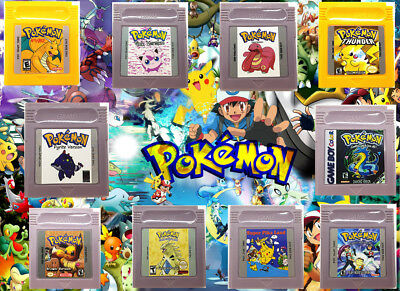 POKEMON Collection of Hacks Unique Special Titles Game Boy Color GBC Play Now !