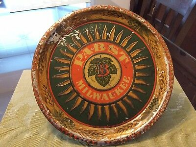 Pabst PRE-PROHIBITION SUN BURST METAL BEER TRAY by Norton Brothers Chicago RARE