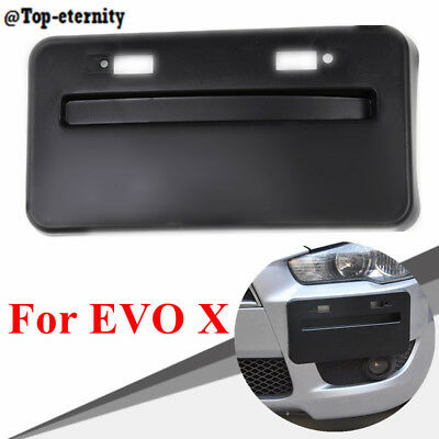 Front Bumper License Plate Relocator Base For 08-18 Mitsubishi Lancer GTS EVO X