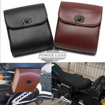 Motorcycle Mini PU Handlebar Sissy Bar Saddlebag Tool bag Side Bag For Honda