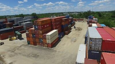 40' (foot/ft) Standard Steel Cargo Intermodal Shipping Container Cleveland Ohio