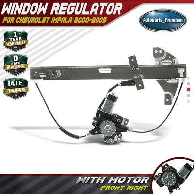 Power Window Regulator W// Motor for 00-05 Chevrolet Impala Front Right 741-631