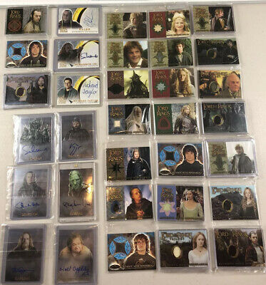 Lord Of The Rings LOTR Movie Costume &Autograph Card Collection +Thousands Cards