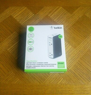 Belkin Travel Rockstar 3000mAh Battery Pack+Charger+Surge Protector 10W/2.0AMP