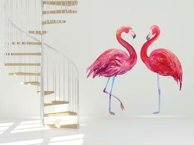 Flamingo Couple Design Wall Art Vinyl Stickers African Colourful Decal Mural 12