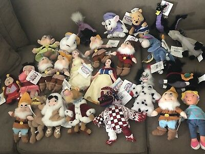 Disney Store Lot of 25 Beanie Plush, BRAND NEW W/ TAGS ATTACHED
