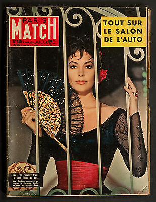 'paris-Match' French Vintage Magazine Ava Gardner Cover 4 October 1958