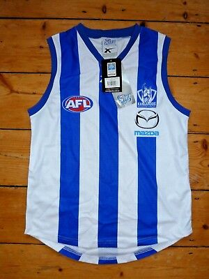 "AUSSIE RULES AFL NORTH MELBOURNE KANGAROOS TEAM SHIRT VEST size S /38"" chest"