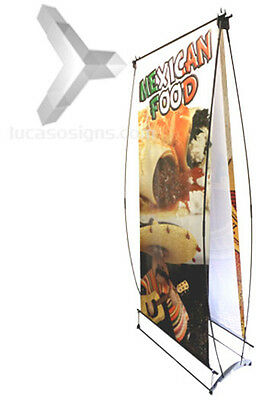 Tradeshow Banner Stand Double Face + Full Color Custom Prints