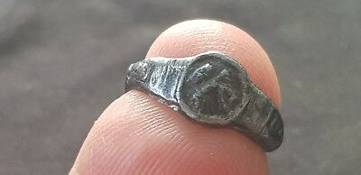 Ultra rare Exquisite Roman Silver finger ring. Please read description. L61b